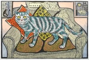 Fizz by Richard Bawden linocut